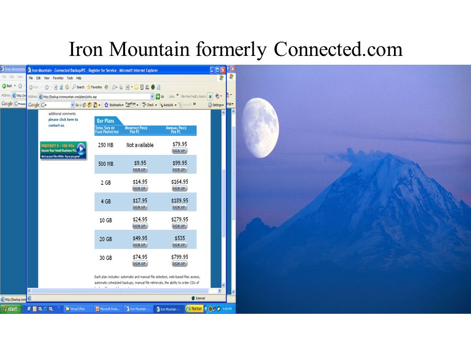 Iron Mountain formerly Connected.com