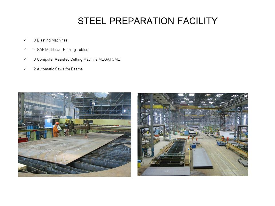 STEEL PREPARATION FACILITY 3 Blasting Machines.