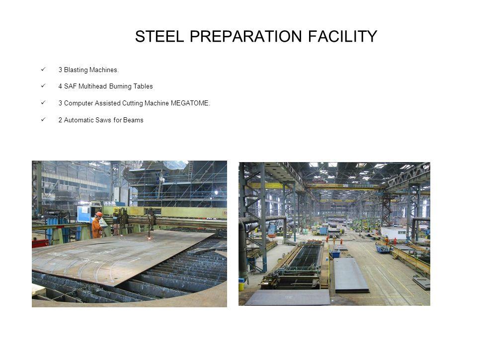 STEEL PREPARATION FACILITY 3 Blasting Machines.