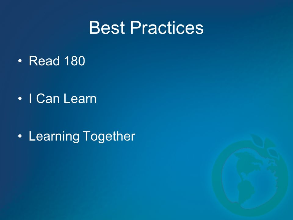 Best Practices Read 180 I Can Learn Learning Together