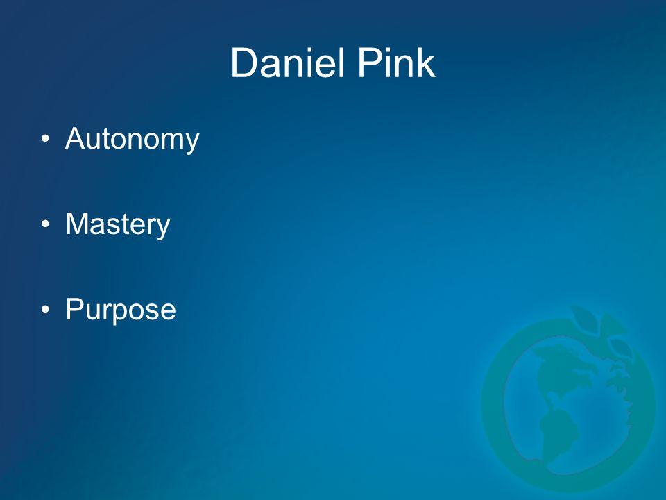 Daniel Pink Autonomy Mastery Purpose