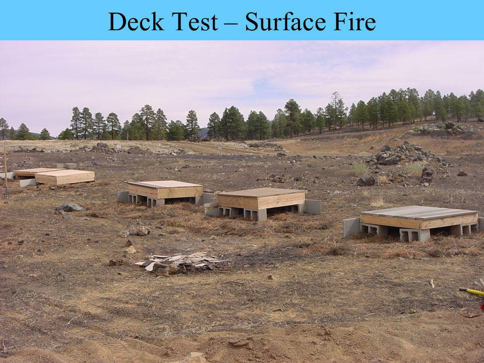 Deck Test – Surface Fire