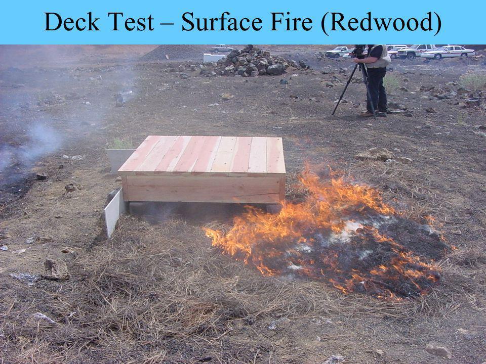 Deck Test – Surface Fire (Redwood)