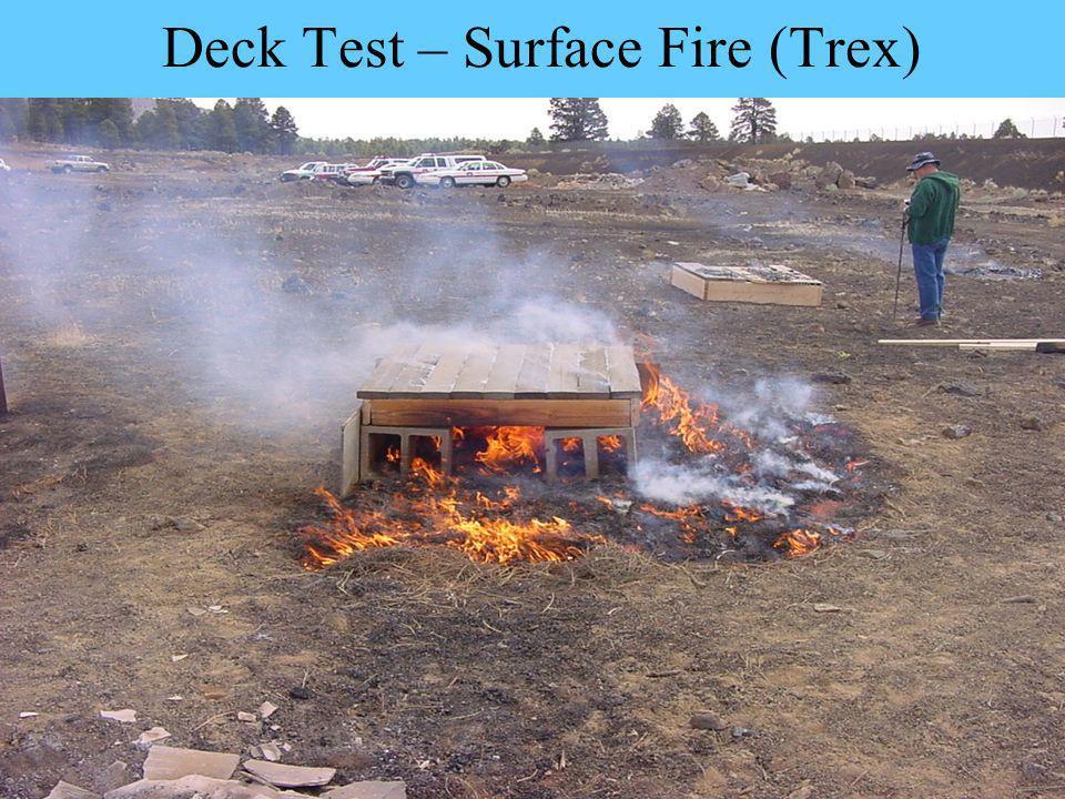 Deck Test – Surface Fire (Trex)