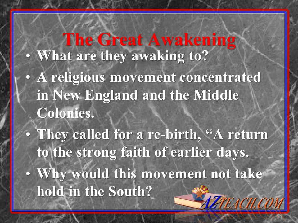 The Great Awakening What are they awaking to What are they awaking to.