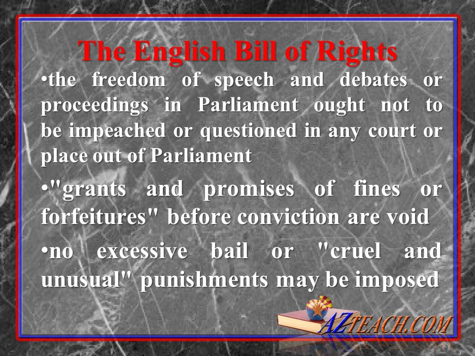 the freedom of speech and debates or proceedings in Parliament ought not to be impeached or questioned in any court or place out of Parliament the fre