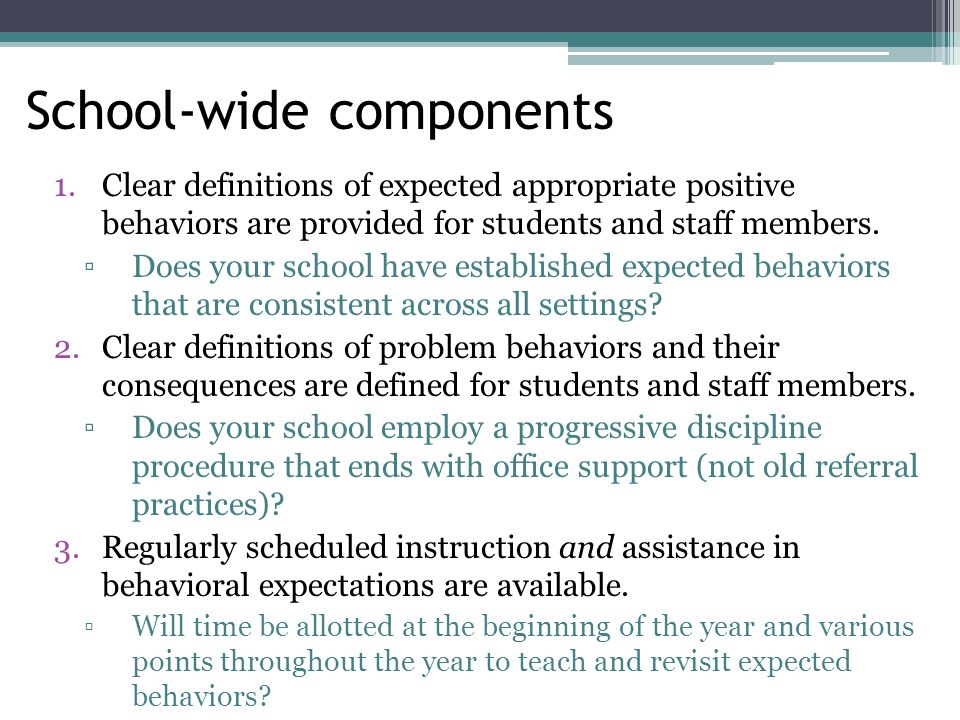 Contingencies for Performance Classrooms that lack clear contingencies for performance are likely to result in: Acting out by students who are bored or frustrated Some students not having enough incentive or motivation to try hard and behave well in class A lack of goal-orientation across all students in the class