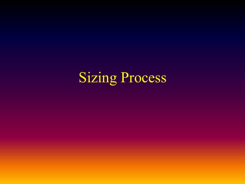 Sizing Process