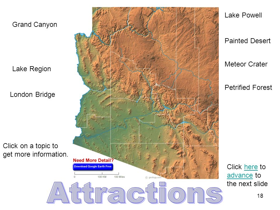 17 Grand Canyon Colorado River Mohave Desert Salt River Black Mountains Match the term with the lines on the map to see its location.
