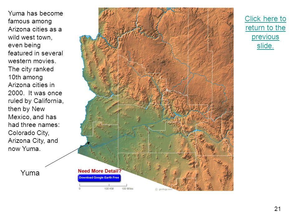 20 Lake Havasu City Click here to return to the previous slide.