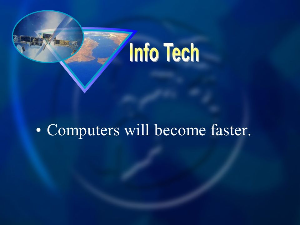 Computers will become faster.