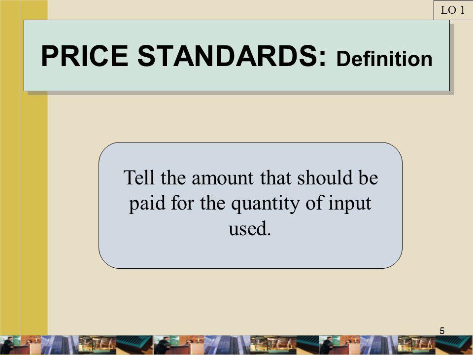 16 MATERIALS VARIANCES LO 4 EXHIBIT 9-6 Decompose total materials variance into price & usage variances.