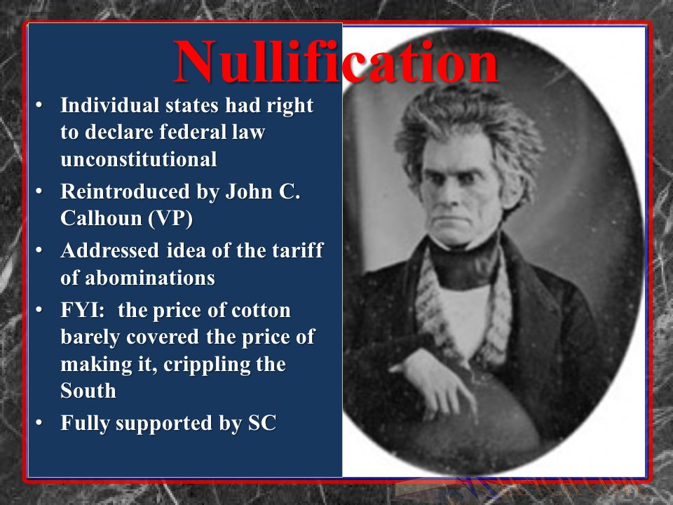 Individual states had right to declare federal law unconstitutional Individual states had right to declare federal law unconstitutional Reintroduced b