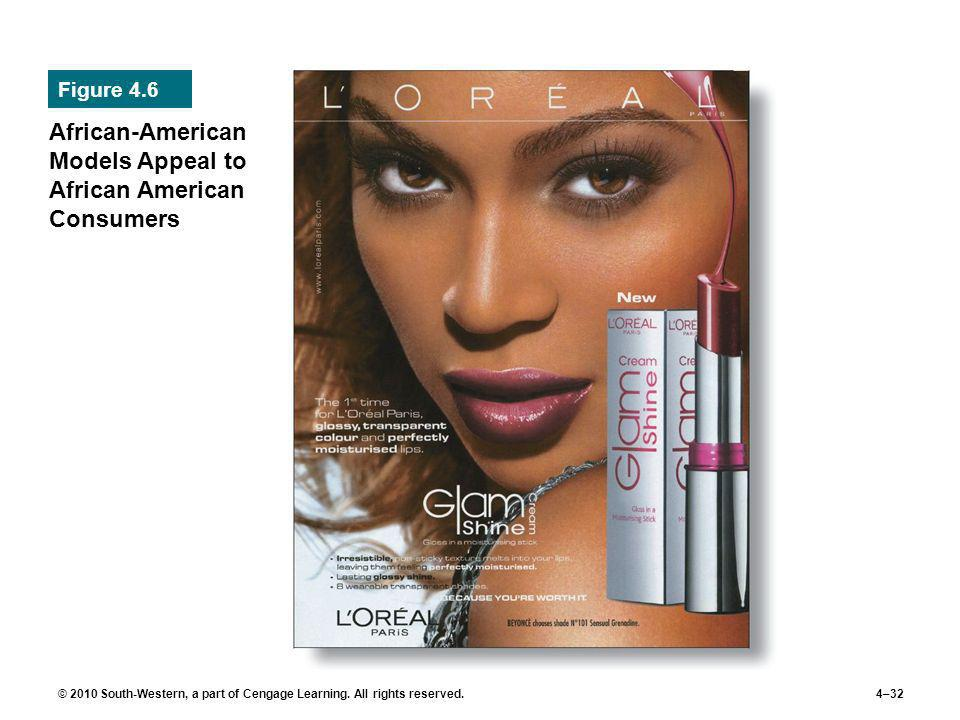 © 2010 South-Western, a part of Cengage Learning. All rights reserved.4–32 African-American Models Appeal to African American Consumers Figure 4.6