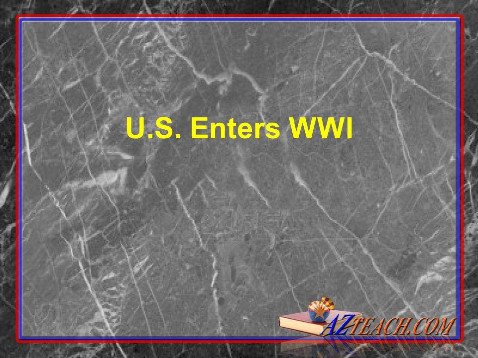 U.S. Enters WWI