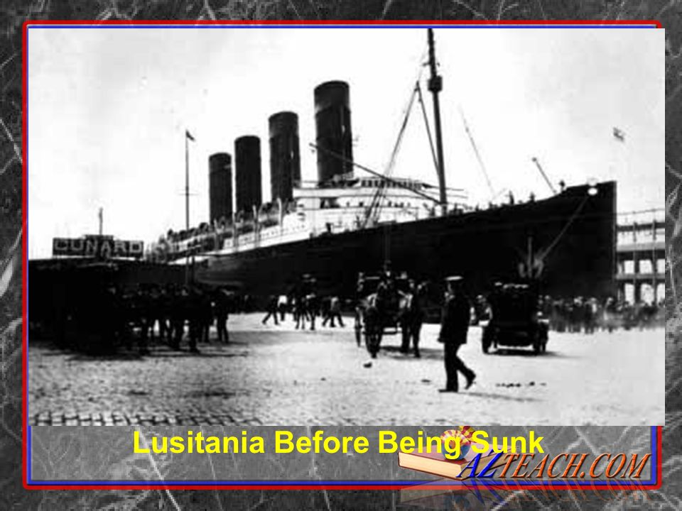 Rendering of Lusitania While Sinking