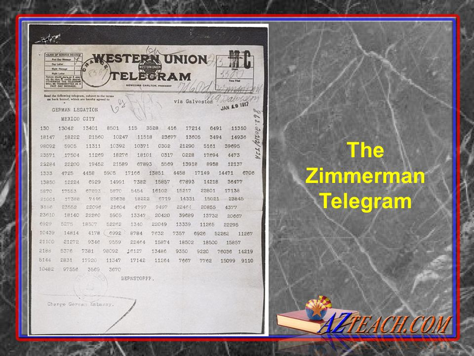 The Zimmerman Telegram Decoded
