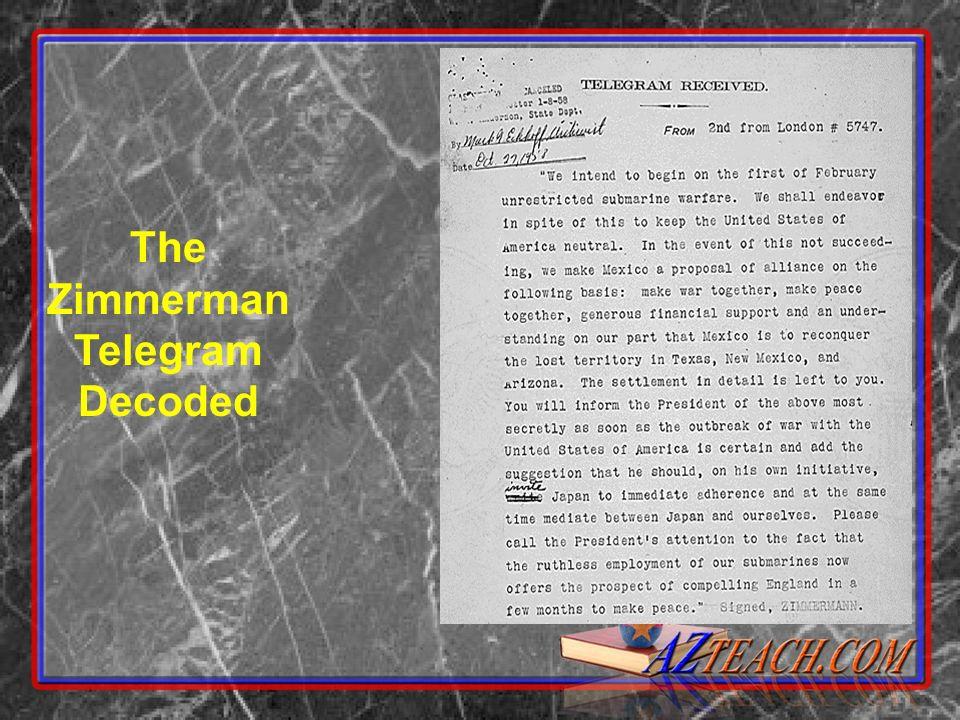 The Zimmerman Telegram Decoded