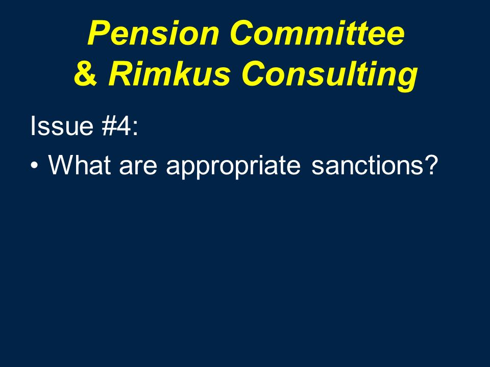 Pension Committee & Rimkus Consulting Issue #4: What are appropriate sanctions?