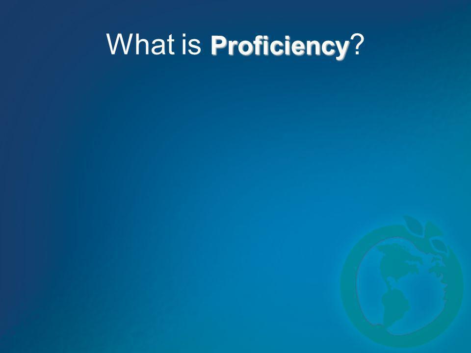 Proficiency What is Proficiency ?