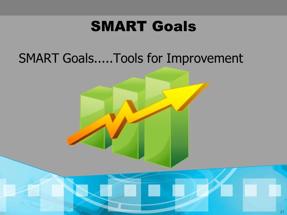 21 SMART Goals SMART Goals.....Tools for Improvement