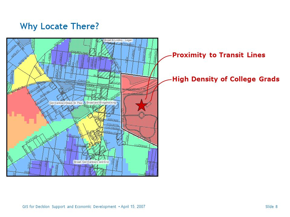 Slide 29GIS for Decision Support and Economic Development April 15, 2007