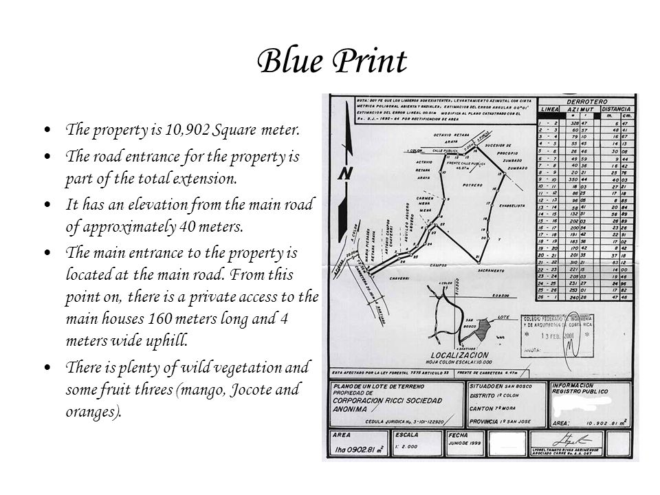 Blue Print The property is 10,902 Square meter.