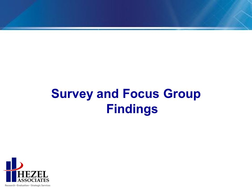 Survey and Focus Group Findings