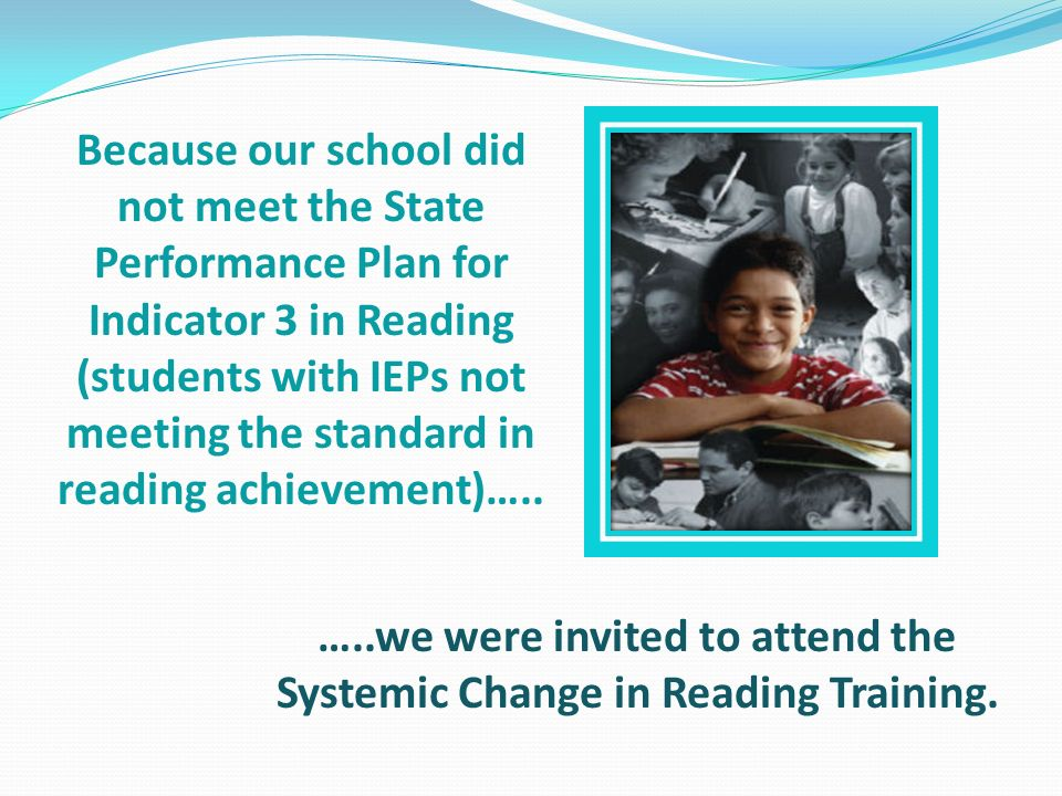 …..we were invited to attend the Systemic Change in Reading Training.