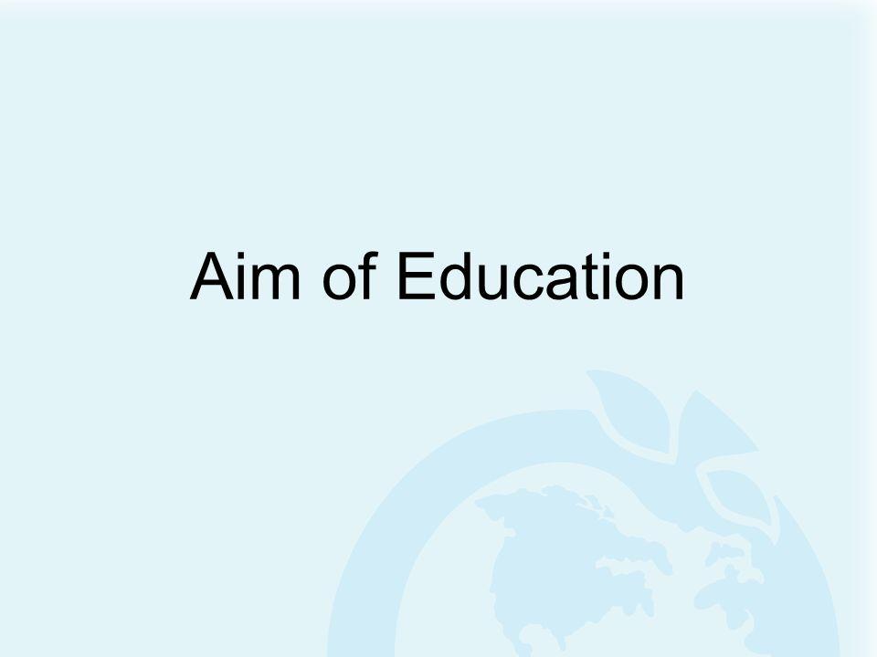 Aim of Education
