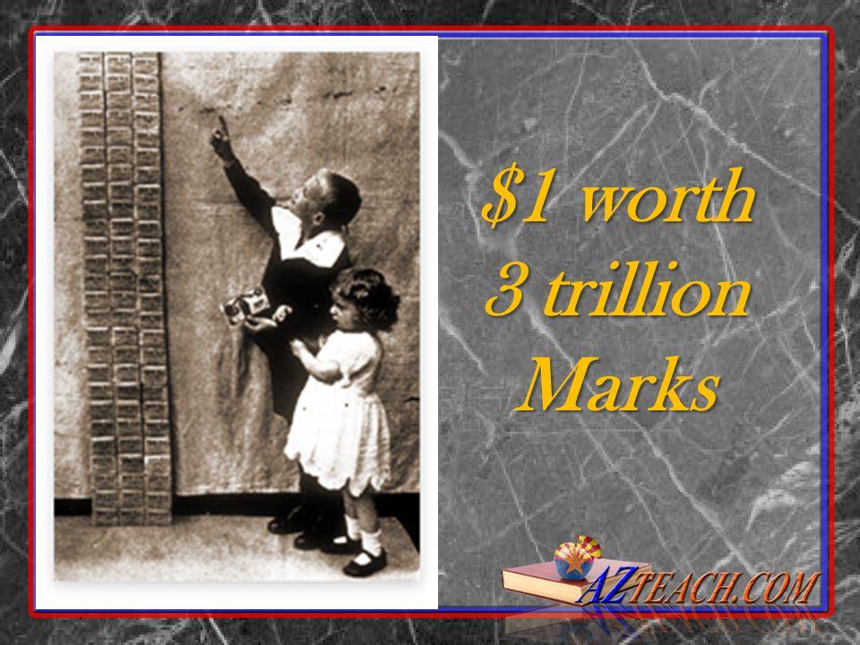 $1 worth 3 trillion Marks