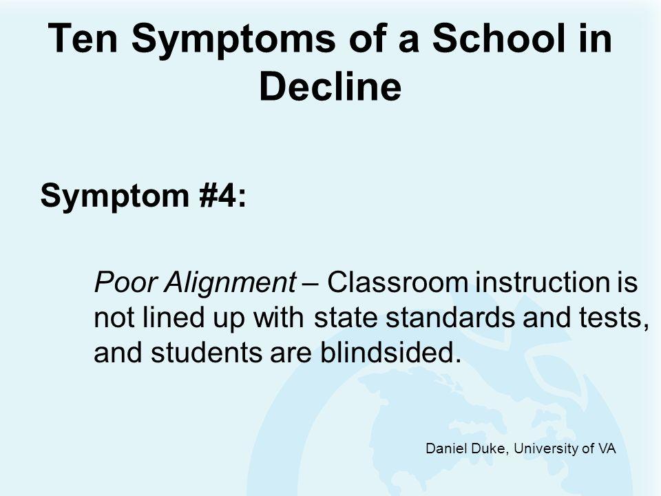 Ten Symptoms of a School in Decline Symptom #3: Lost Focus – The School lacks clear academic priorities.