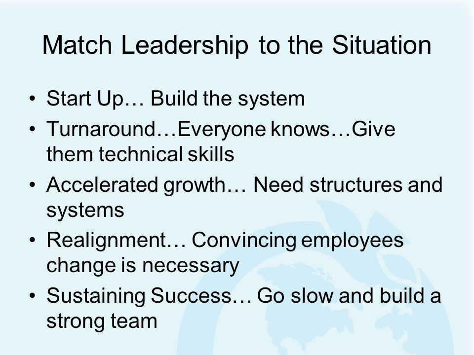 TRANSITION PERIODS Very important and crucial to the system Leadership approaches need to vary What are your leadership reflexes?