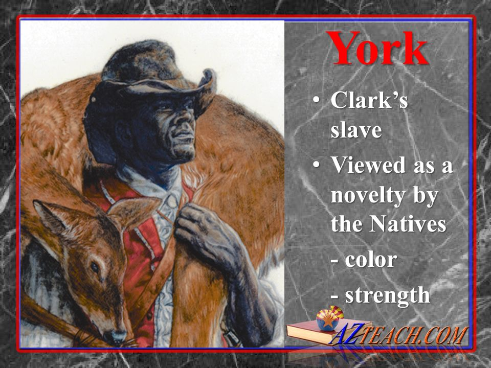 York Clarks slave Clarks slave Viewed as a novelty by the Natives Viewed as a novelty by the Natives - color - strength