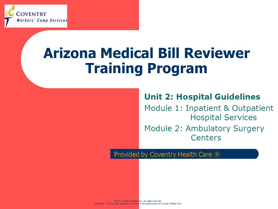22 Arizona Regulation Training – Inpat, Outpat, ASC Ambulatory Surgery Centers (ASC) An ASC is any surgical clinic or ambulatory surgical center that is certified to participate in the Medicare program or any surgical clinic accredited by an approved accrediting agency.