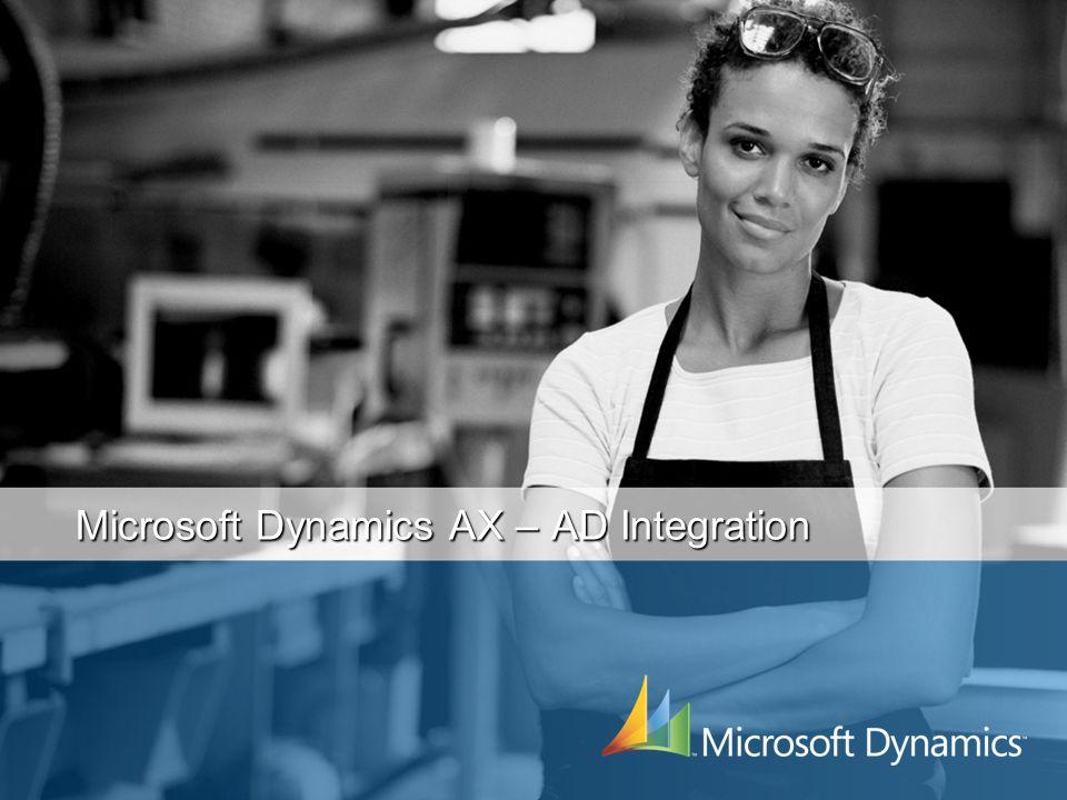 Microsoft Dynamics AX – AD Integration