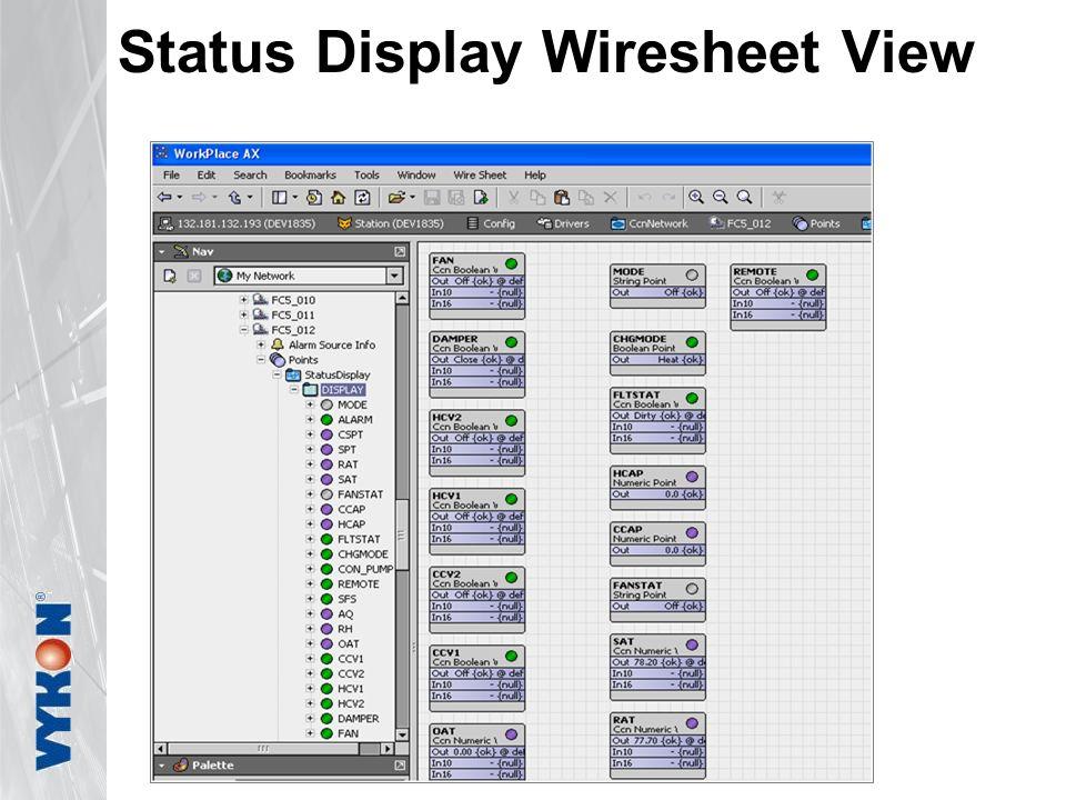 Status Display Wiresheet View