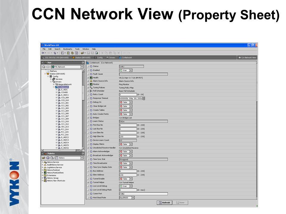 CCN Network View (Property Sheet)