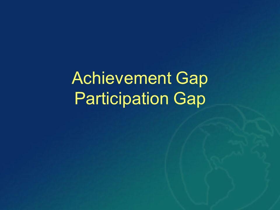 Achievement Gap Participation Gap