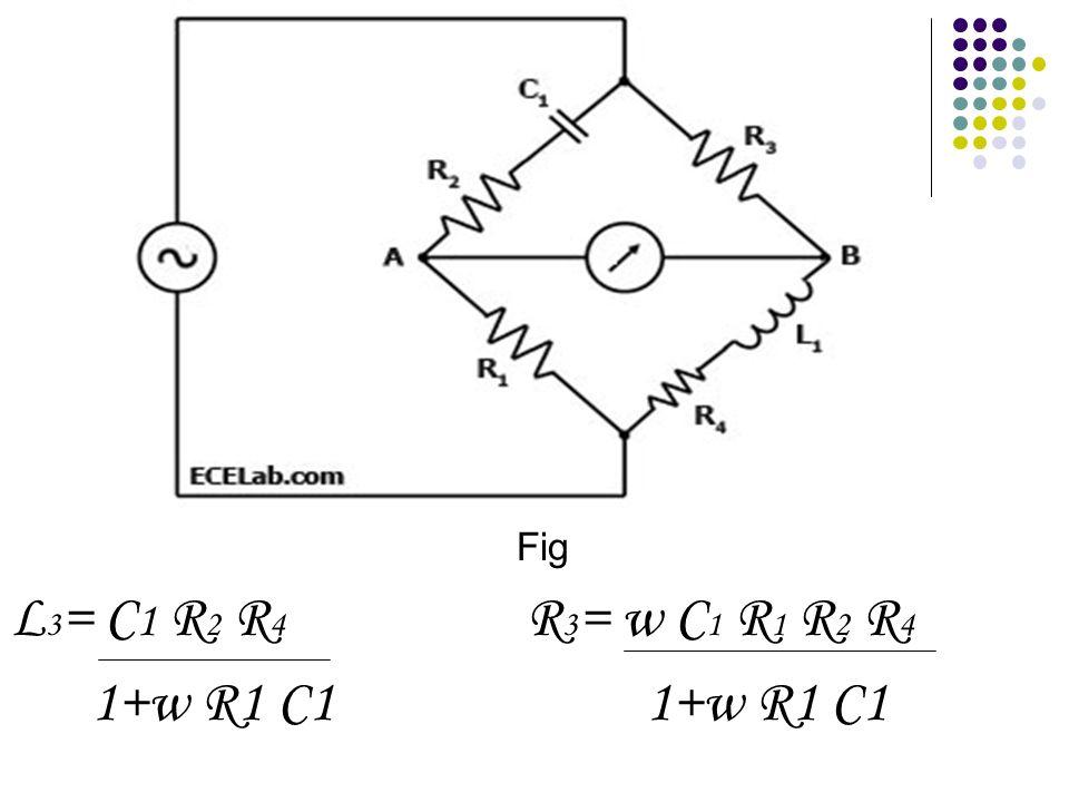 Fig L 3 = C 1 R 2 R 4 R 3 = w C 1 R 1 R 2 R 4 1+w R1 C1 1+w R1 C1