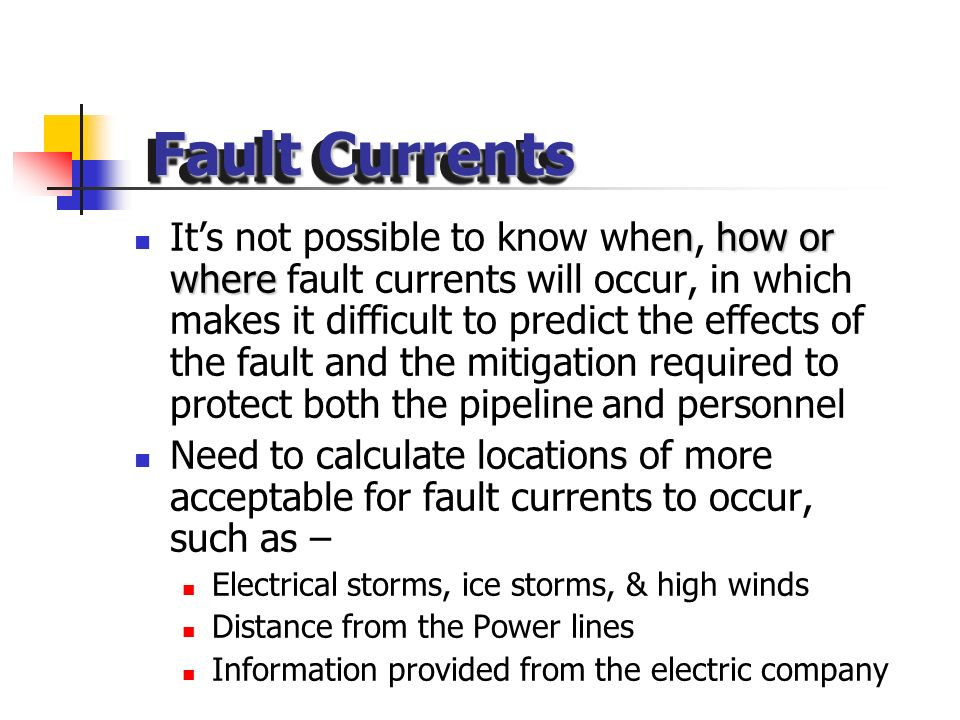 If any of the AC waveforms are to get of frequency with each other greater than or less than 120°, then a possible fault current can occur. Fault curr