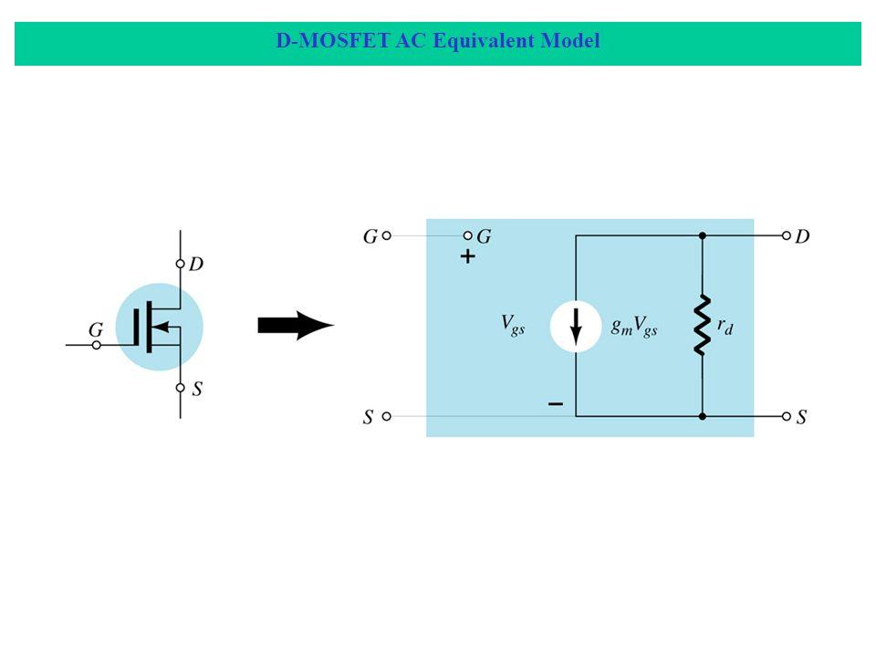 D-MOSFET AC Equivalent Model