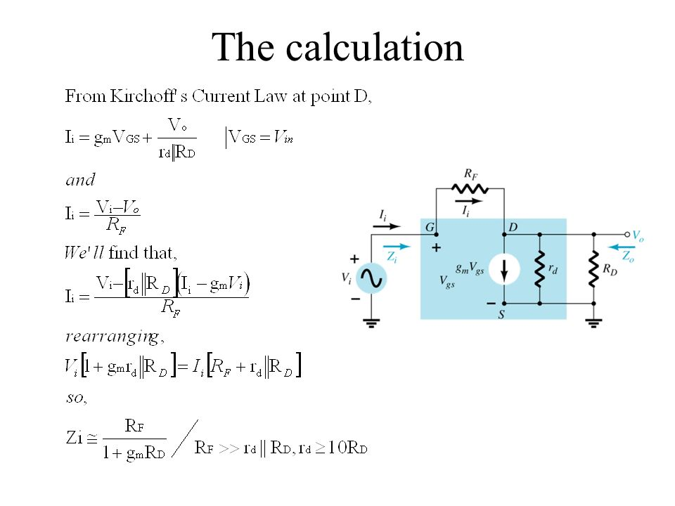 The calculation