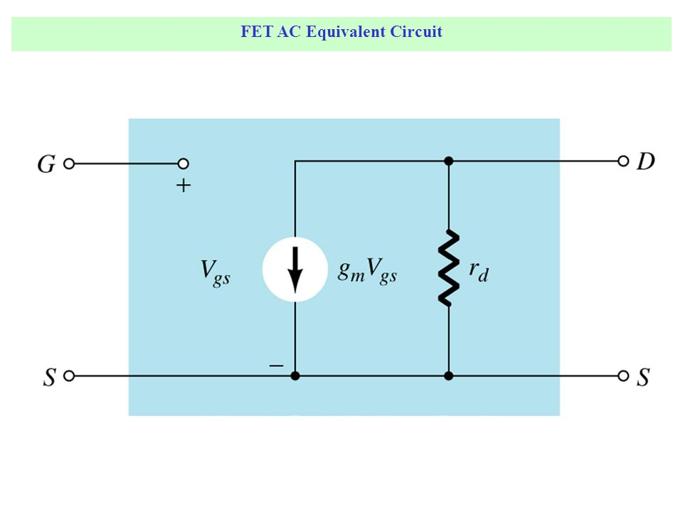 JFET Fixed-Bias Configuration The input is on the gate and the output is on the drain.