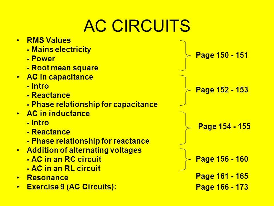 AC CIRCUITS 90523 NCEA Level 3 Physics