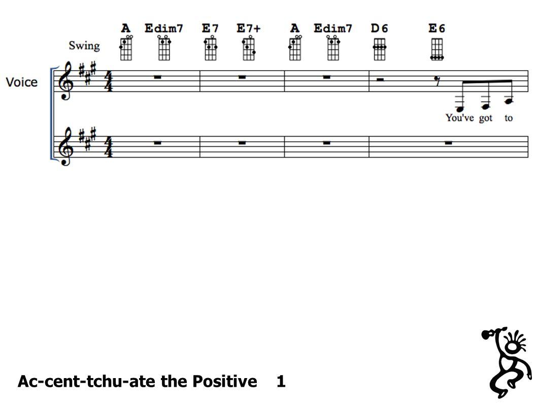 Ac-cent-tchu-ate the Positive 1