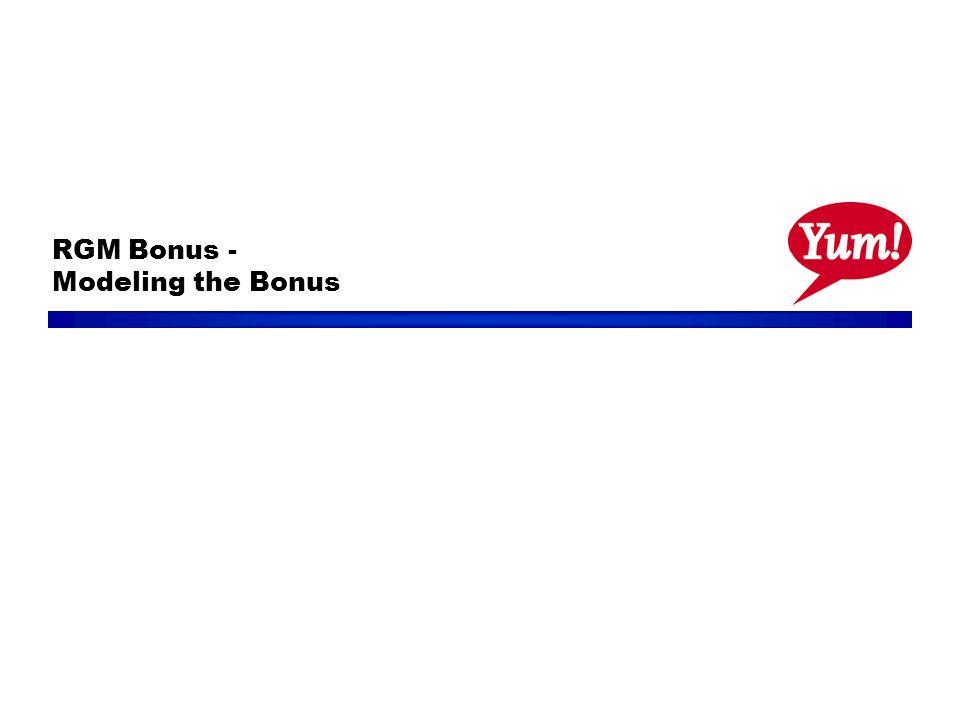 RGM Bonus - Modeling the Bonus