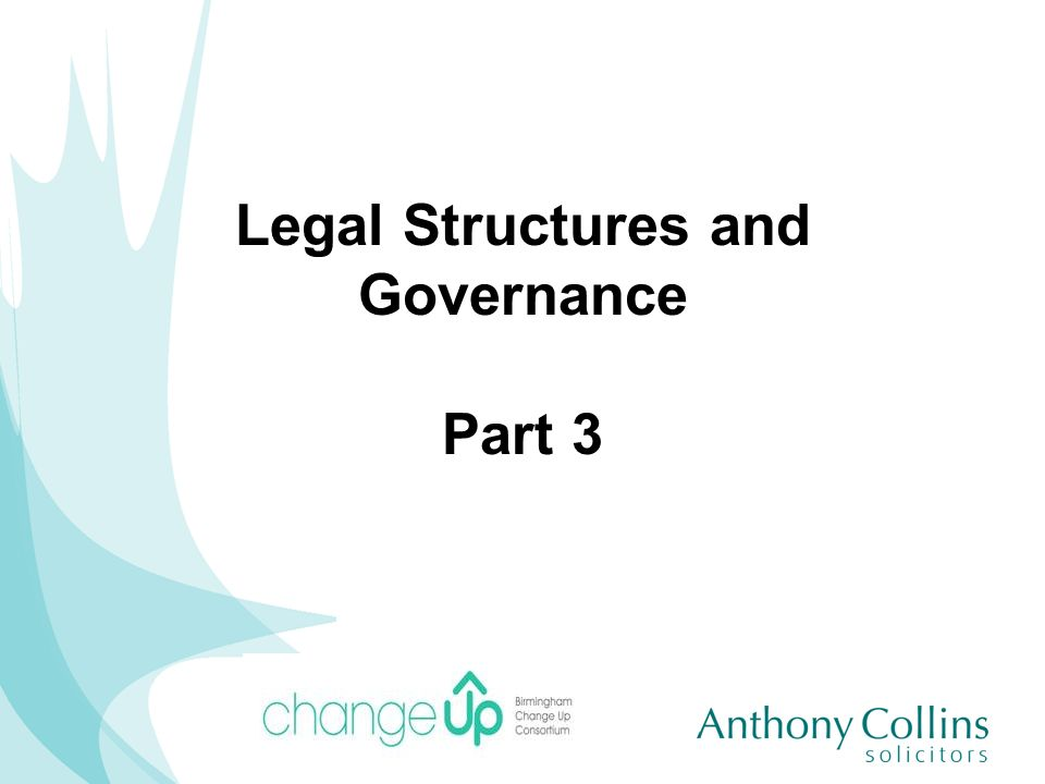 Legal Structures and Governance Part 3