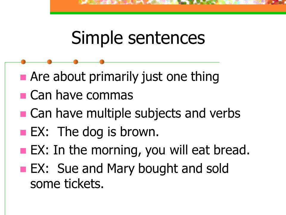 The Joy of Sentences Simple Compound Complex Compound-Complex