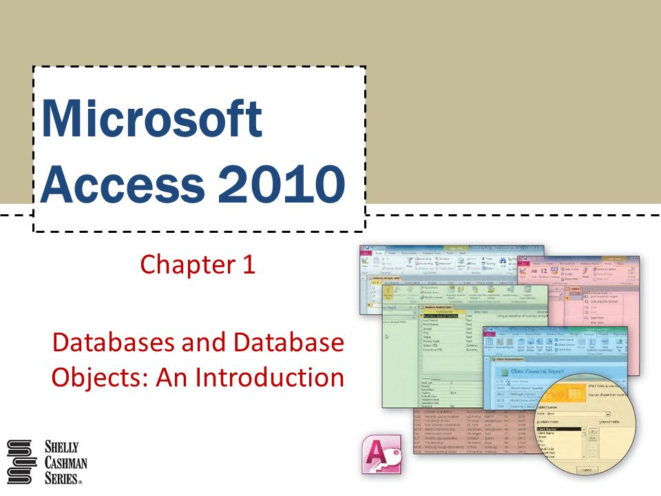 Microsoft Access 2010 Chapter 1 Databases and Database Objects: An Introduction